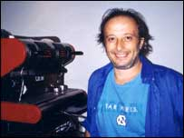 Luca Ricci, DeCoro President and founder with his espresso coffee machine