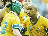 George Gregan (right) said Romania were physically tough