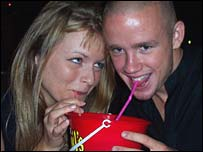 Reporter shares a drink with a clubber