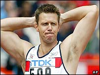 Steve Backley was one of several British athletes to disappoint in Paris