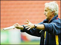 Romania coach Bernard Charreyre