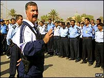 Iraqi police officers