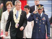 Laura and George W Bush in Manila