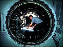 A giant autoclave where the carbon-fibre parts are cooked - picture courtesy of McLaren
