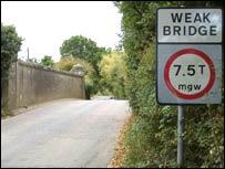 Hartlake Bridge in the present day