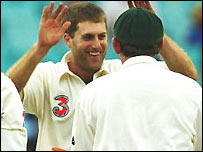 Simon Katich celebrates