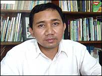 The headmaster of Darunnajah pesantren, Sofwan Manaf