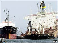 Salvage vessels and MT Tasman Spirit