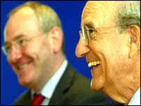 George Mitchell (right) met Mark Durkan