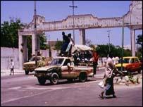 Entrance to Mogadishu, capital of Somalia