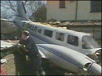 The scene of the crash in 2001