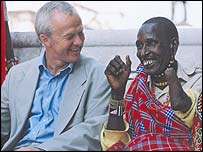 Lawyer Martyn Day and a Masai man