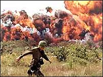 A napalm attack in Vietnam