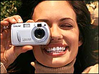 Sony webgrab of lady using a camera