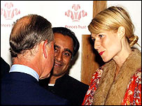 Prince Charles meets Hollywood actress Gwyneth Paltrow and The Kumars at Number 42 star Sanjeev Basker