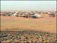 Tent town in Western Sahara