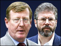 David Trimble and Gerry Adams
