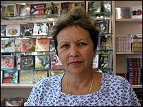 Mar�a Fern�ndez, vendedora de discos.
