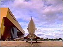 A Concorde at Heathrow