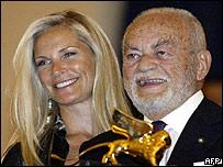 Dino De Laurentiis and wife Martha