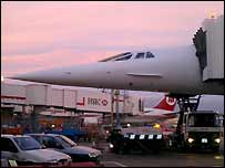 Concorde before its flight to Boston, USA