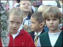 pupils at Reutov school