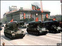 North Korean tanks on parade