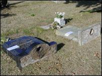 Gravestones laid flat (generic)