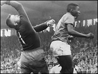 Pele in action in 1958