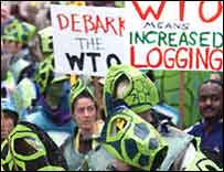 Demonstrations at Seattle in 1999