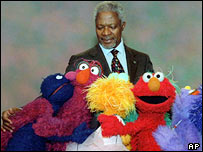 UN Secretary General Kofi Annan on Sesame Street