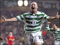 John Hartson scored at Anfield