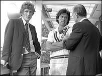 Bob Willis,Imran Khan and Peter West