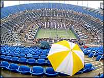 Rain has delayed play at Flushing Meadows