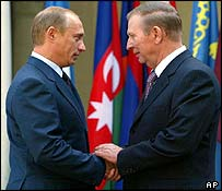 Vladimir Putin and Leonid Kuchma