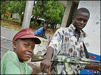 Liberian rebel child soldiers