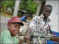 Liberian rebel child soldiers