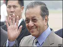 Malaysian Prime Minister Mahathir Mohamad at the Apec summit in Bangkok