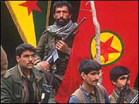 PKK fighters in south-east Turkey
