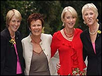 Angela Baker, Julie Walters, Helen Mirren and Tricia Stewart