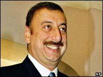 Избранный президент Азербайджана И. Алиев