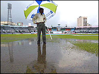 The deluge sets into the Dhaka outfield