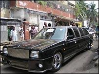 Limousine in Dhaka street