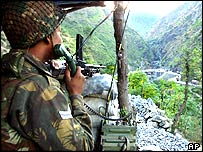 Indian soldier on the Line of Control