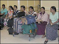 Maids at Colombo airport