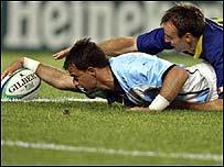 Nicolas Fernandez Miranda scores for Argentina
