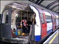 Damaged carriage