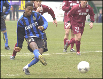 Inter Milan star Mohamed Kallon