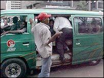Matatu mini-bus in the capital, Nairobi