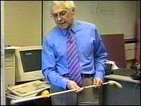 UltraCane inventor Professor Brian Hoyle